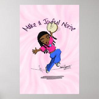 Nzinga - Make a Joyful Noise Pink - POSTER