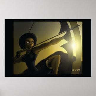 Nzinga Queen Archer Poster