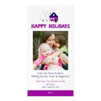 O2 Winter Scene-White Holiday Xmas Cards Personalized Photo Card