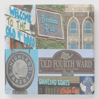 O4W Old Fourth Ward, Atlanta Collage Coasters