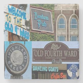 O4W Old Fourth Ward, Atlanta Collage Coasters Stone Coaster