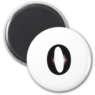 O And Or Whole Musical Note Represented Fridge Magnet