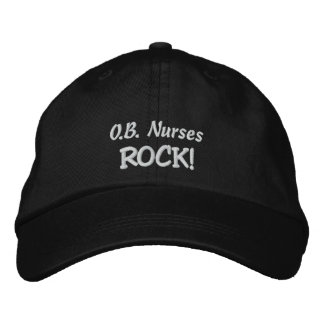 O.B. Nurses Rock! Embroidered Hat