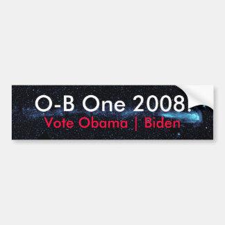 O-B One 2008 Starmap Bumper Sticker