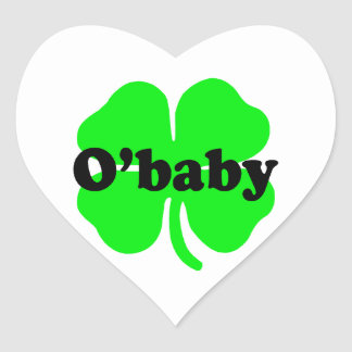 O Baby Irish Shamrock Sticker