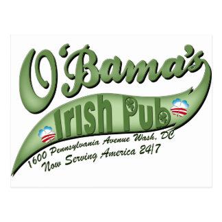 O bama s Irish Pub Post Card