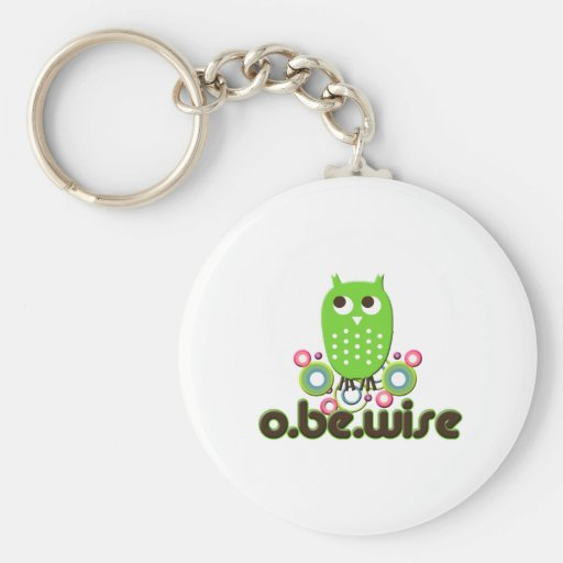 O Be Wise Basic Round Button Key Ring