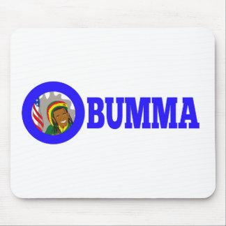 O-bumma Rastafarian car bumper sticker Mouse Pads