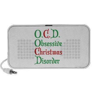O.C.D. Obsessive Christmas Disorder Notebook Speaker