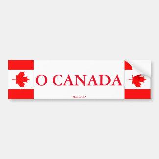 O Canada Bumper Sticker