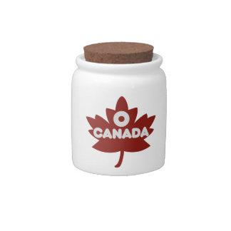 O Canada Candy Jars