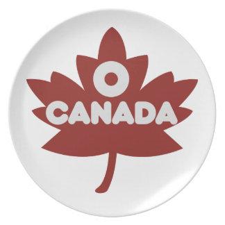 O Canada Dinner Plates