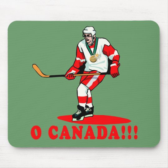 O Canada Hockey Gold Medal Mouse Mat