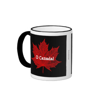 O Canada! Red Maple Leaf Ringer Mug