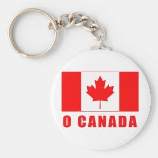 O CANADA with Canadian Flag Tshirts Basic Round Button Key Ring