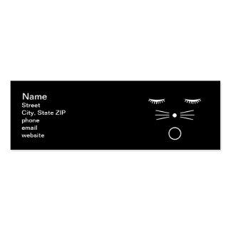 O Cat Black Pack Of Skinny Business Cards