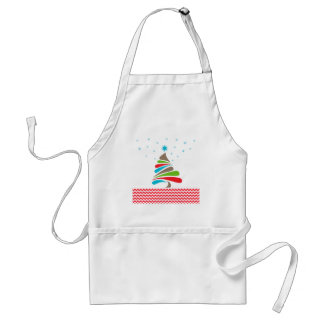 O CHRISTMAS Tree Star Chevron Gifts Standard Apron