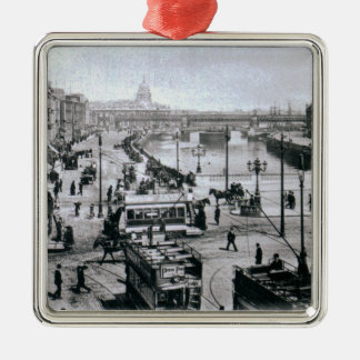O' Connell Bridge and the River Liffey, Dublin Christmas Ornament
