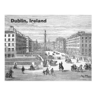 O Connell Street Vintage Dublin Ireland Postcard