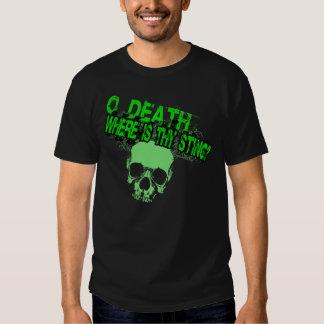O Death Where Is Thy Sting (Guys Basic T-Shirt) Shirts