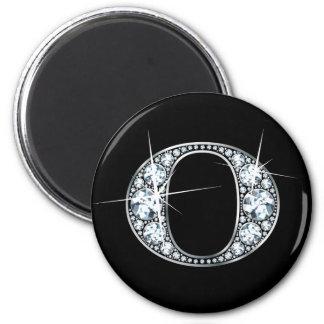 """""""O"""" Diamond Bling Magnet"""