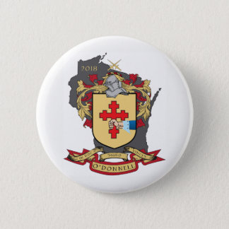 """O""""Donnell Family Crest_Wisconsin Button"""