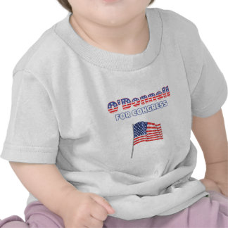 O Donnell for Congress Patriotic American Flag Tshirts
