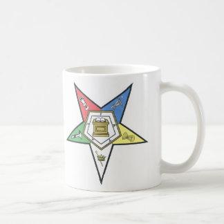 O.E.S. CLASSIC WHITE COFFEE MUG