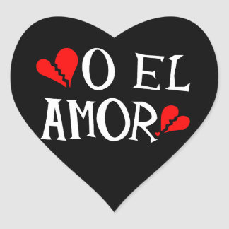 O El Amor Heart Stickers (sheet of 20)