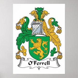 O Ferrell Family Crest Poster