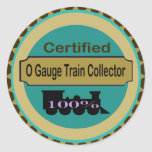 O Gauge Train Collector Stickers