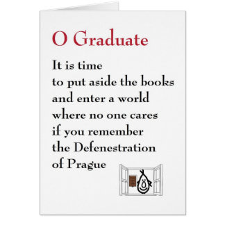 O Graduate - a quirky graduation poem Card