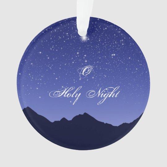 O Holy Night Acrylic Ornament