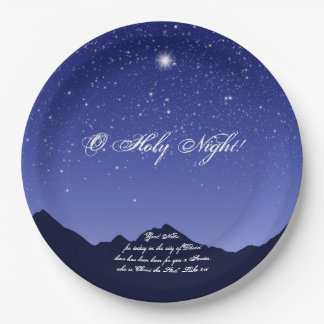 O Holy Night Christmas Paper Plates