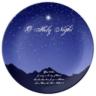 O Holy Night Christmas Porcelain Plate