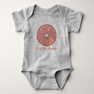 O is for Orange Citrus Fruit Slice Foodie Baby Bodysuit