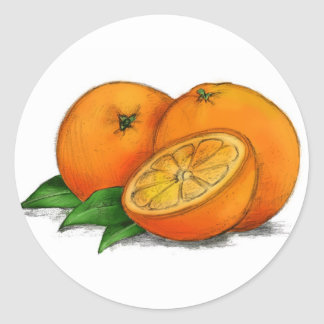 O is for Oranges Classic Round Sticker
