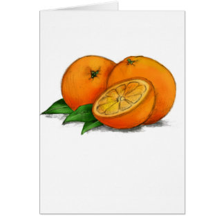 O is for Oranges Greeting Card