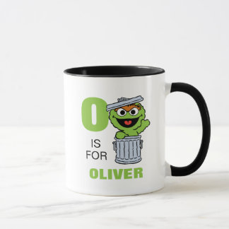 O is for Oscar the Grouch | Add Your Name Mug
