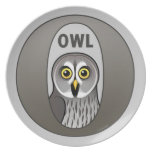 O is for Owl Plate