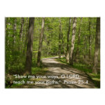 O Lord, Teach me your paths. Psalm 25 Poster