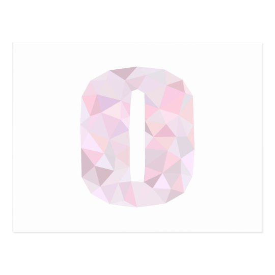 O - Low Poly Triangles - Neutral Pink Purple Grey Postcard