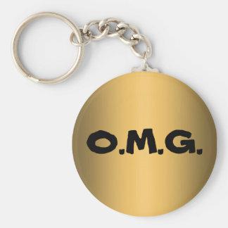 O.M.G. BASIC ROUND BUTTON KEY RING