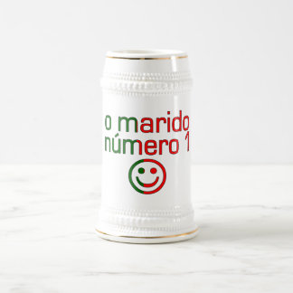 O Marido Número 1 - Number 1 Husband in Portuguese Beer Steins