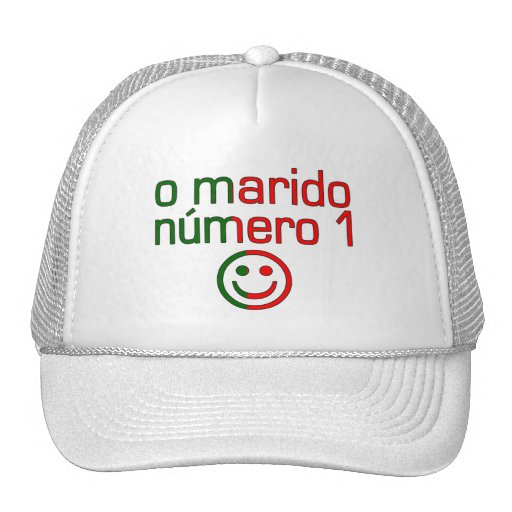 O Marido Número 1 - Number 1 Husband in Portuguese Trucker Hats