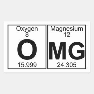 O-Mg (omg) - Full Rectangular Sticker