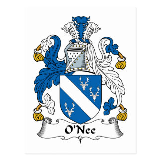 O Nee Family Crest Post Cards