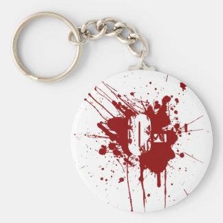 O Negative Blood Type Donation Vampire Zombie Key Ring