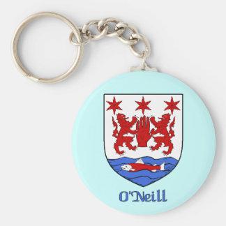 O Neill Family Shield Keychain