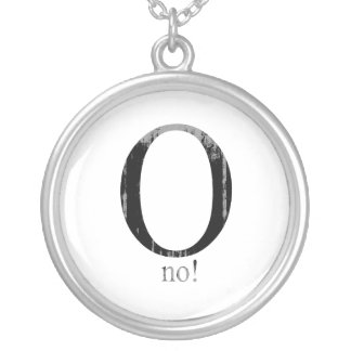 O no Faded png Personalized Necklace